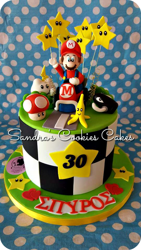 Super Mario cake  Τούρτα ζαχαρόπαστα