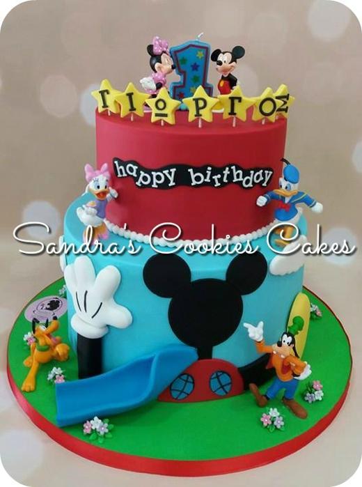Mickey mouse club Τούρτα ζαχαρόπασστα