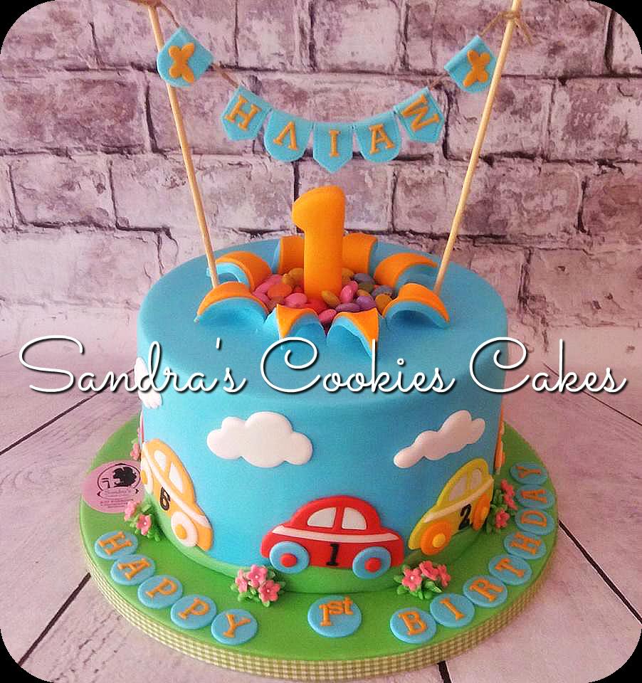 Baby car cake Τούρτα ζαχαρόπασστα
