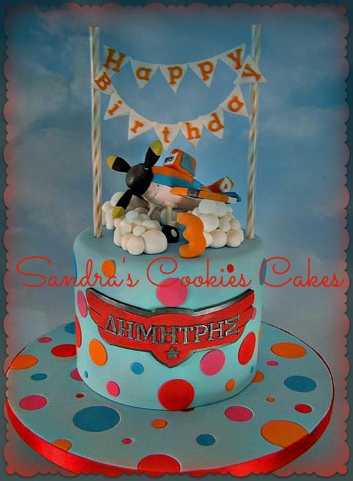 Planes cake Τούρτα ζαχαρόπασστα