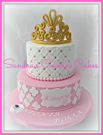 Crown cake   Τούρτα ζαχαρόπασστα