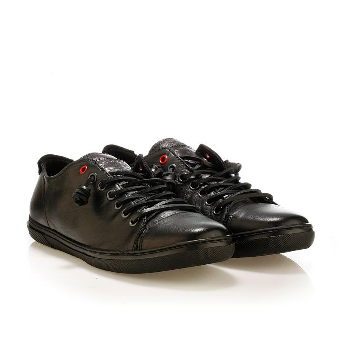 cc6429b613 5143all black men leather sneaker ανδρικα αντρικα δερματινα παπουτσια  urbanfly ...