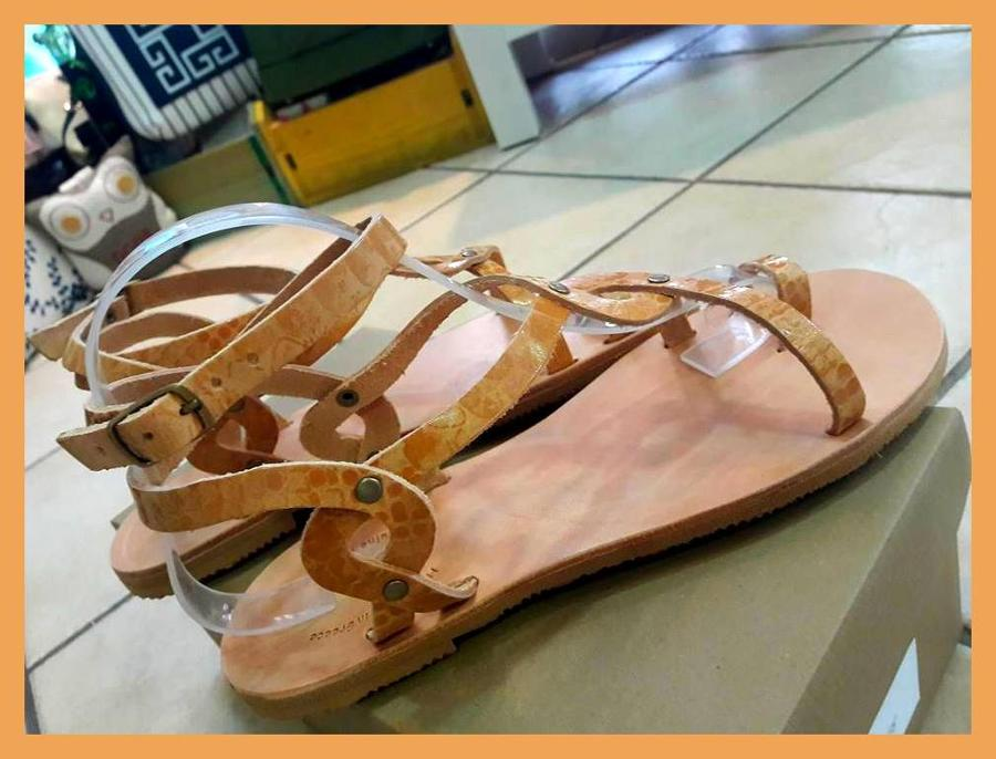 Leather Sandal (snake) price 33,oo€ Νούμερα 36-41