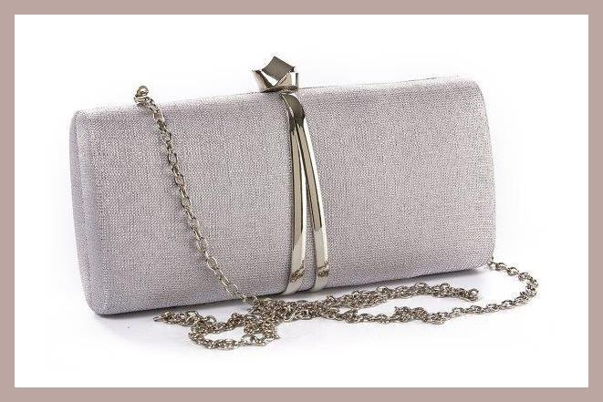 clutch verde, silver color, 01-1193, price 34,90€