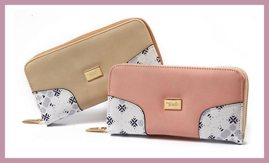 Γυναικεία Πορτοφόλια, code 18-869, price 27.90€, διαθέσιμο το beige χρώμα