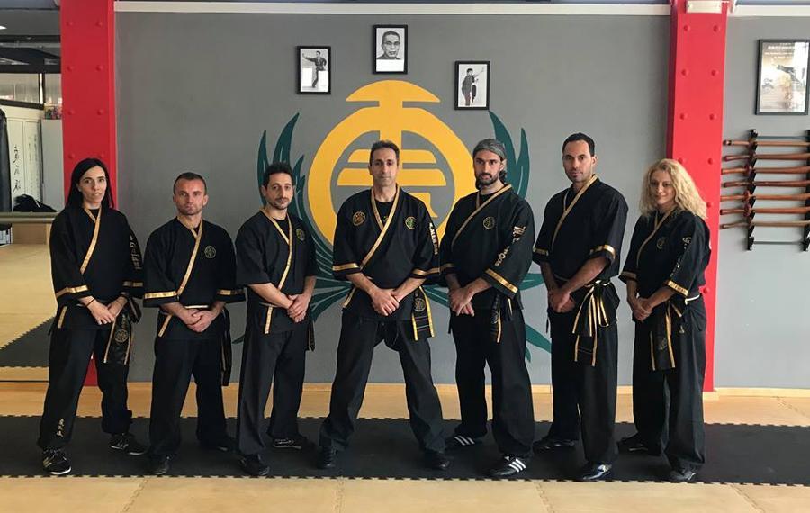 Με εκλεκτούς συναδέλφους της Αθλητικής ενώσεως Kung Fu -  Fu Jow Pai και τον δάσκαλό μας Νικόλαο Μέμμο .