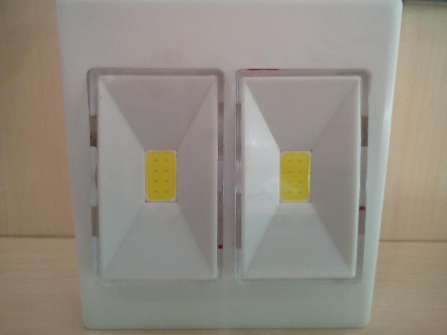 Φακος σχημα μπριζας Παγκρατι 2 led μπαταριας