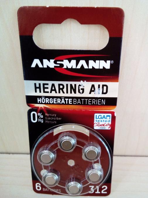 Μπαταριες ακουστικων βαρυκοιας Ν312 Παγκρατι