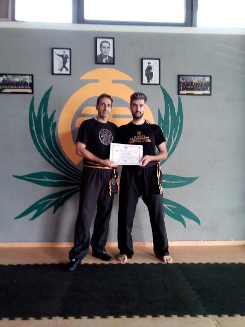 Κατά την απονομή του 4ου level , με τον δάσκαλό μου κ. Μέμμο Νικόλαο .
