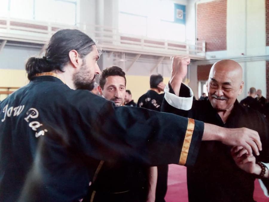 Με τον ζωντανό θρύλο του Kung Fu , Grand Master Wai Hong Ng .