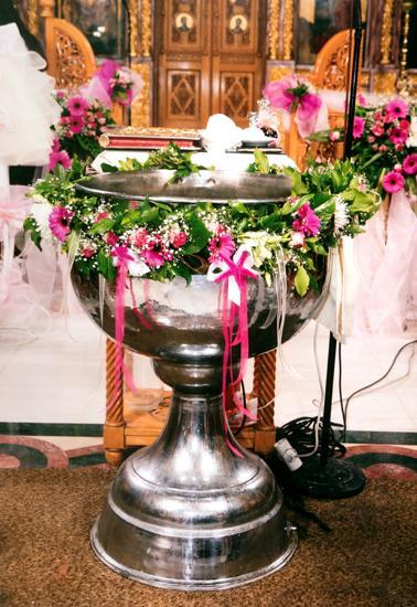 Στολισμός βάπτισης Κερατσίνι, Στολισμοί βάπτισης Κερατσίνι, Στολισμός κολυμπήθρας Κερατσίνι