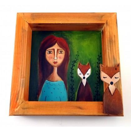 Χειροποίητος Πίνακάς Ζωγραφικής, Νεράιδα της Πονηριάς,Δραπετσώνα Κερατσίνι, Είδη δώρων