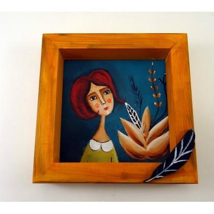 Χειροποίητος Πίνακάς Ζωγραφικής, Νεράιδα του Λωτού,Δραπετσώνα Κερατσίνι, Είδη δώρων