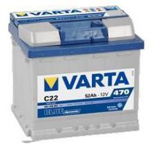 Μπαταρία αυτοκινήτου varta blue dynamic 52ah 12v c22 - 65€