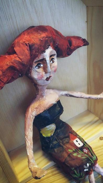 Χειροποίητες κούκλες, papier mache Κερατσίνι