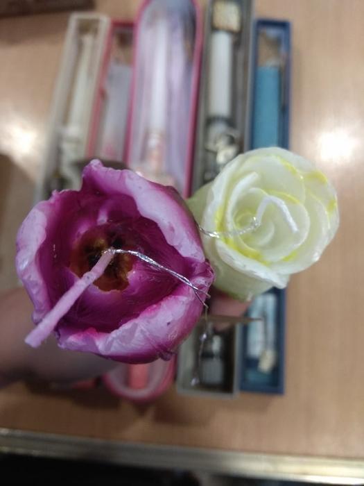 λαμπάδα λουλούδι