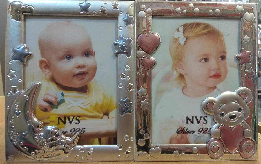Ασημένιες εικόνες παιδικές 13 Χ 18 μέγεθος για αγόρια και κορίτσια