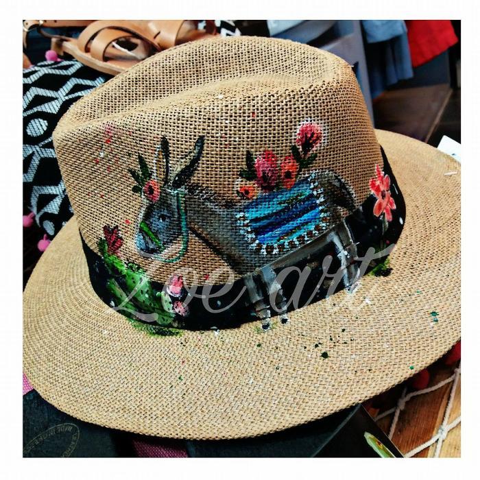 Χειροποιήτο ζωγραφιστό καπέλο, ψάθινο καπέλοι , καλοκαίρι Δραπετσώνα