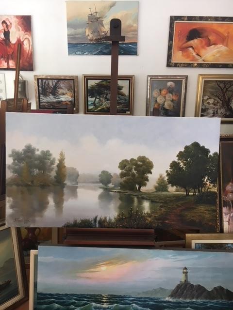 Πίνακες ζωγραφικής Γαλάτσι, Κορνίζες ξύλινες Άνω Πατήσια, Συντήρηση έργων τέχνης Άνω Πατήσια