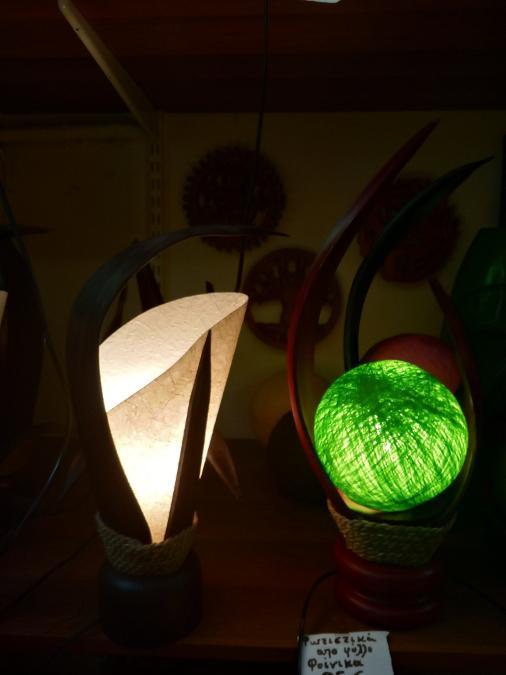 Φωτιστικά πορτατίφ από φύλλο φοίνικα 25ευρω